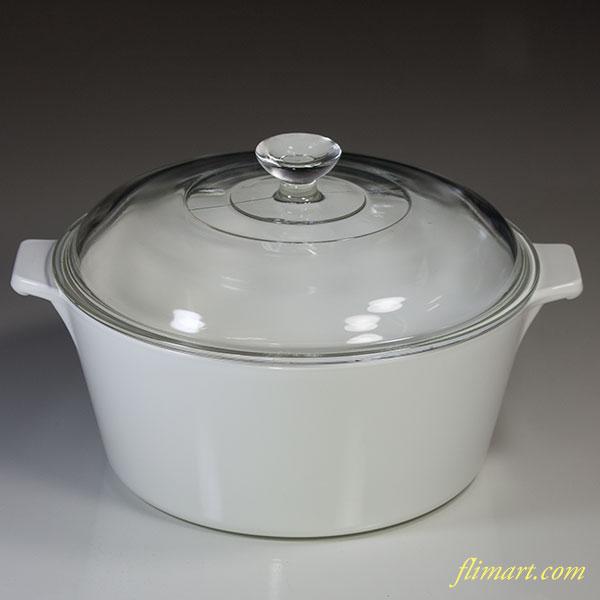 コーニングパイロセラム旭硝子キャセロール鍋
