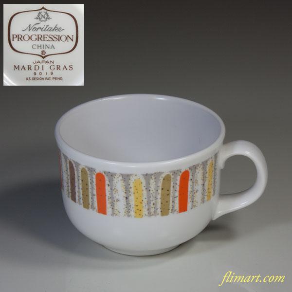 ノリタケPROGRESSIONプログレッションMARDI GRASマルディグラマグカップ