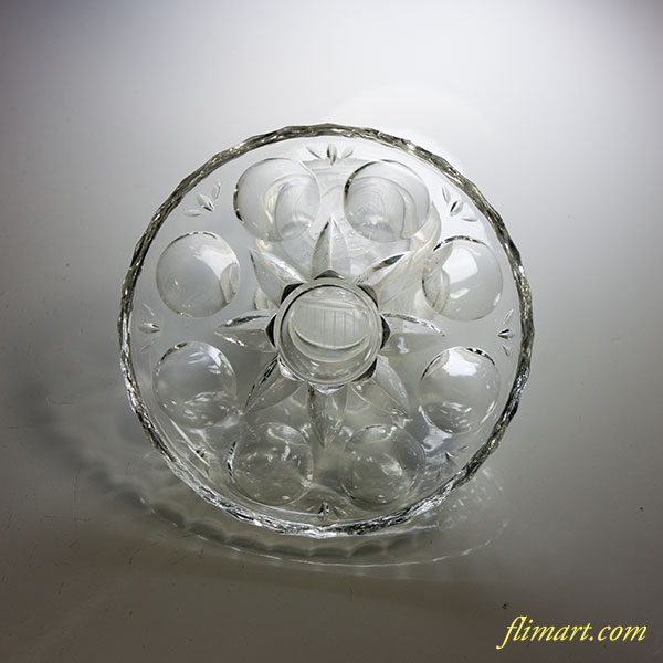 昭和レトロアデリアガラス小皿R4910