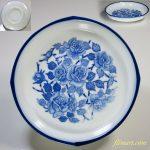 昭和レトロ薔薇柄花柄小皿R4912