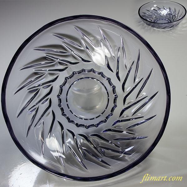 昭和レトロ紫ガラスボウルR4957