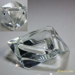 昭和レトロクリスタルガラス灰皿R4967