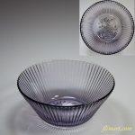 昭和レトロ紫ガラス小鉢R4561