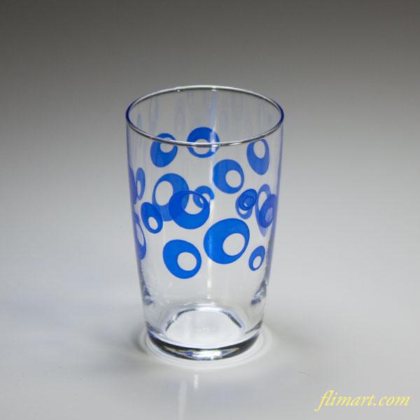 昭和レトロアデリアガラスコップR4972