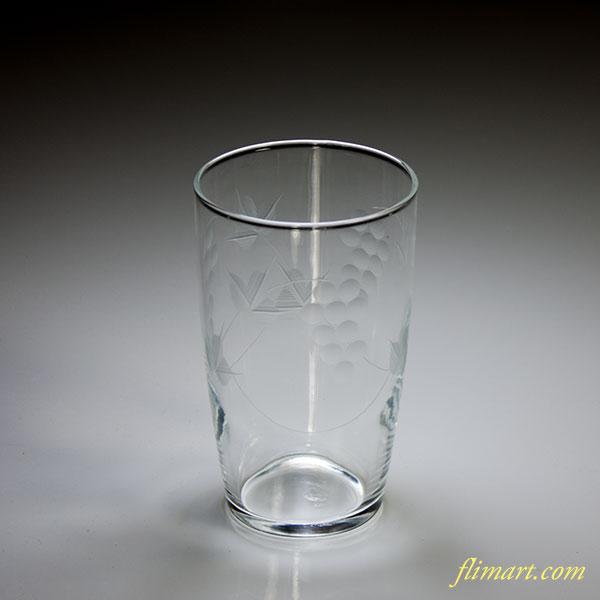 昭和レトロアデリア葡萄ガラスコップR5042