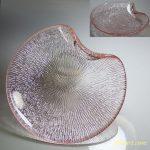 ピンクガラス小皿R5125
