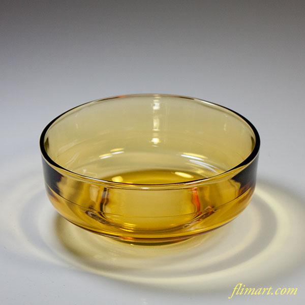 昭和レトロ曽我グラス飴色ガラス小鉢