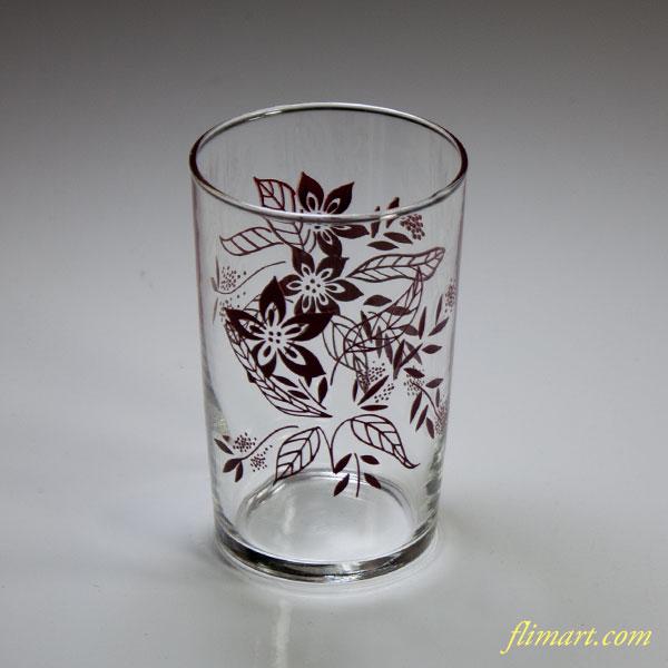 昭和レトロアデリアガラスコップR5067