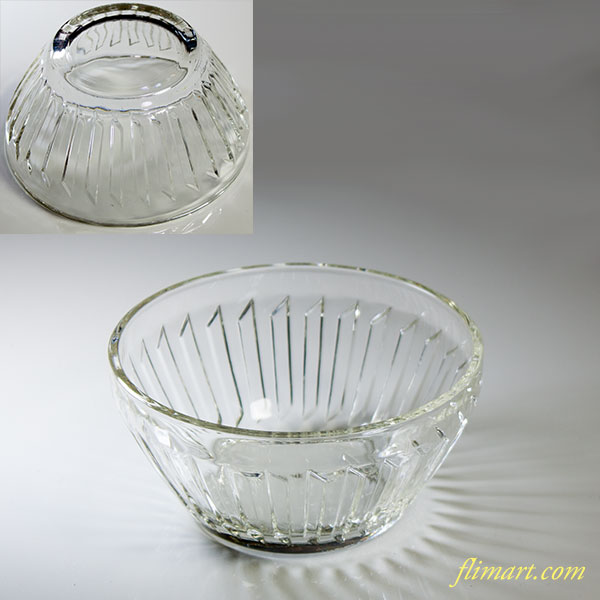 昭和レトロアデリアガラス小鉢R5161