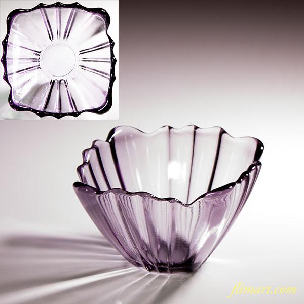 昭和レトロ紫ガラス小鉢R5168