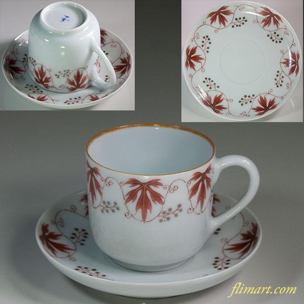 東山葡萄文碗皿カップ&ソーサー