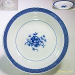 昭和レトロ花柄薔薇柄カレー皿R5227