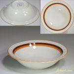 昭和レトロストーンウェアスープ皿R5231