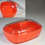 昭和レトロプラスチックケースオレンジR5305