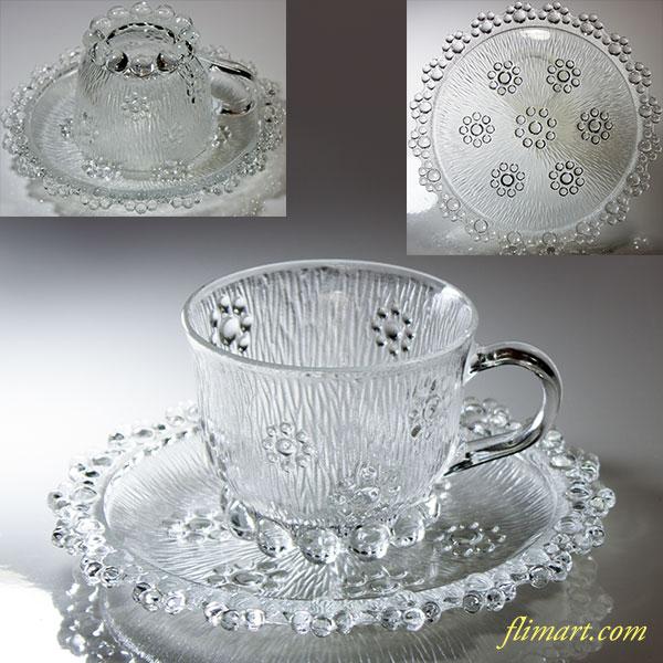 アデリアガラスカップ&ソーサーR5299