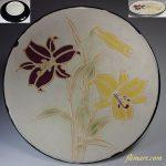 百合柄大皿飾皿