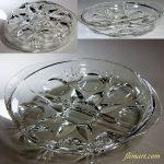 昭和レトロアデリアグラスガラスプレートR5422