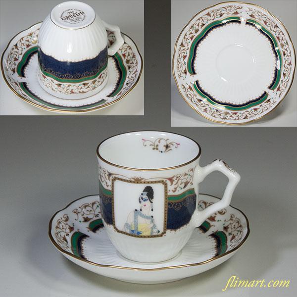 資生堂花椿会1990デミタスカップ&ソーサーR5436