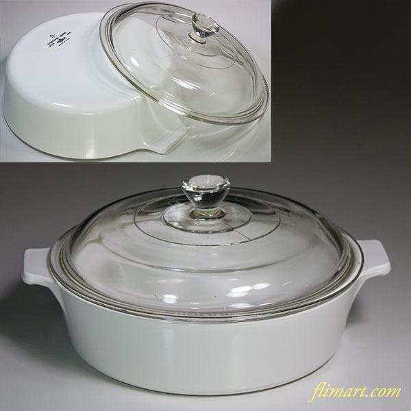 コーニングパイロセラム旭硝子キャセロールR54598