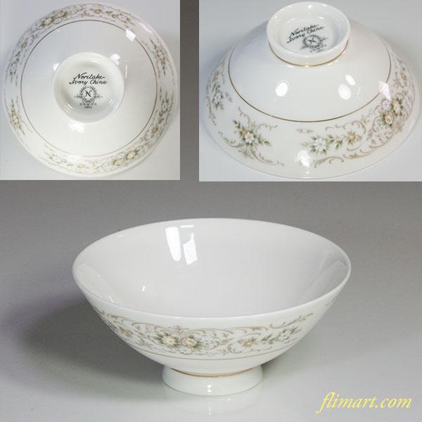 ノリタケアイボリーチャイナ茶碗R5492