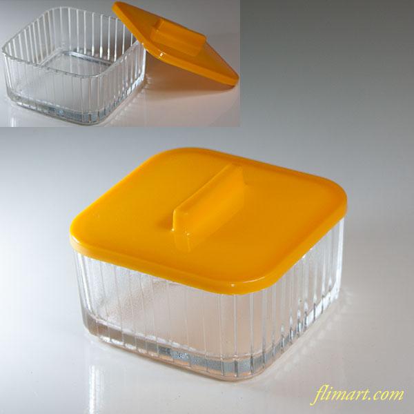 ファンタガラス小鉢黄