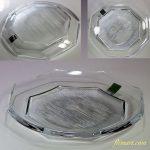 保谷クリスタル八角ガラスプレート5枚セットR5596