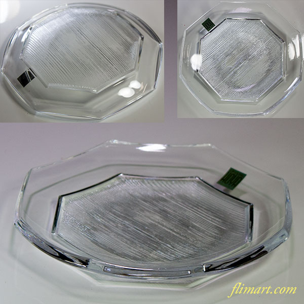 保谷クリスタル八角ガラスプレートR5596