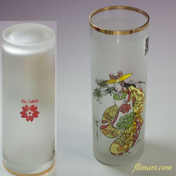 昭和レトロアデリアグラス大阪万博笹おどりコップ