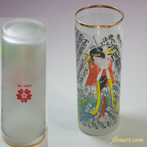 昭和レトロアデリアグラス大阪万博無冠の鐘の段コップ