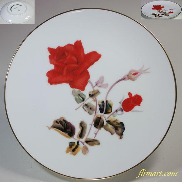 ノリタケ薔薇柄21cmプレートR5588