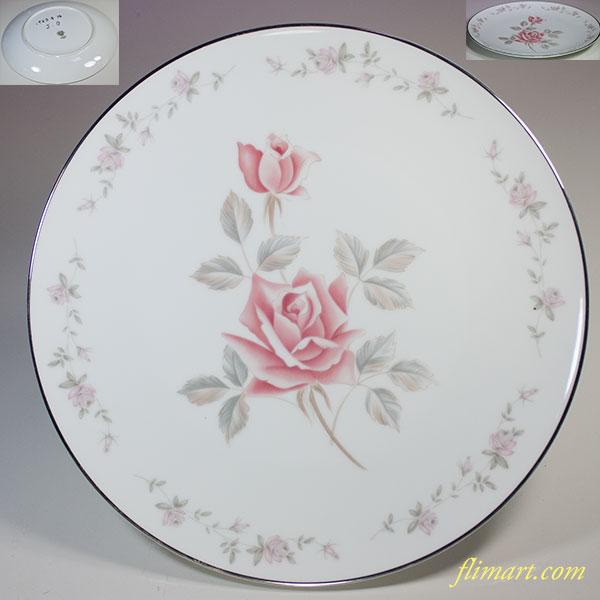 昭和レトロノリタケ薔薇柄27cmプレートR5593