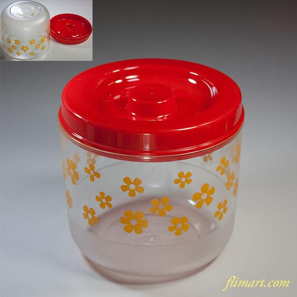 昭和レトロプラスチックケース赤R5632