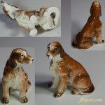 昭和レトロ陶器日本製フィギュア犬の置物ゴールデンレトリバー