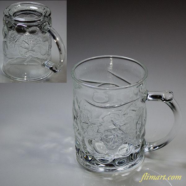葡萄柄ガラスマグカップR5621