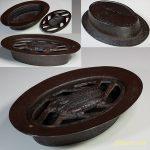 大洋製絨株式会社創立20周年記念HOPEMAN TEX鉄製鋳物灰皿