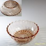 昭和レトロピンクガラス小鉢R5647