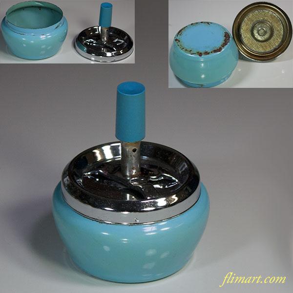 昭和レトロ金属製灰皿R5640