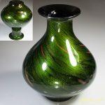 昭和レトロガラス花瓶R5657
