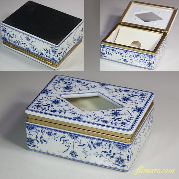 陶磁器製ミニティッシュボックスR5652