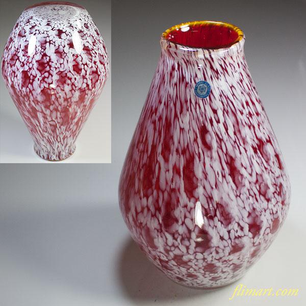 昭和レトロ佐々木グラスガラス花瓶R5660