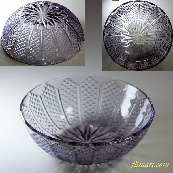 昭和レトロ紫ガラス小鉢R5701