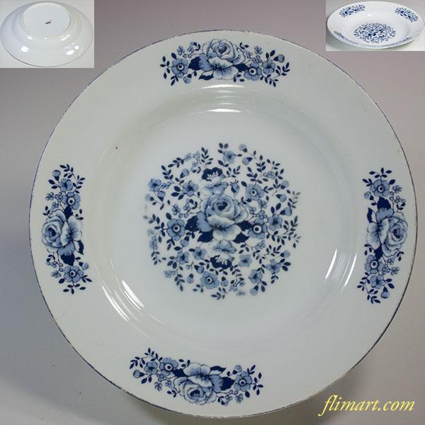 薔薇柄スープ皿R5711