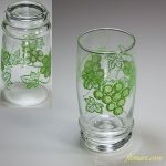 昭和レトロカメイガラス葡萄柄ガラスコップR5695