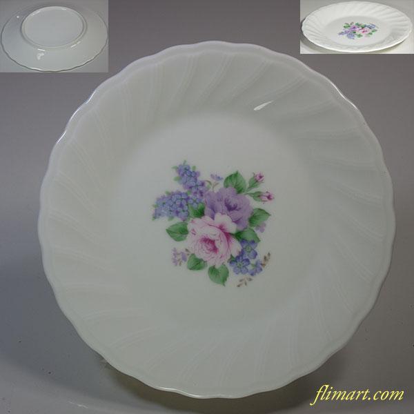 昭和レトロ花柄17cmプレートR5823