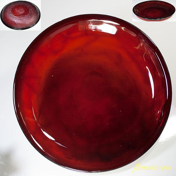アルコロックシエラ赤ガラスプレート