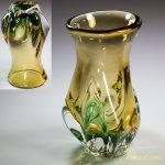 昭和レトロガラス花瓶R5710