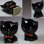 昭和レトロ黒猫貯金箱R5720