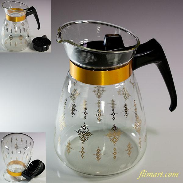 ハリオ耐熱ガラスティーポットコーヒーサバー黒