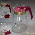 ハリオ耐熱ガラスティーポットコーヒーサバー赤
