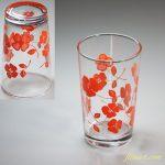 昭和レトロガラスコップオレンジR5781